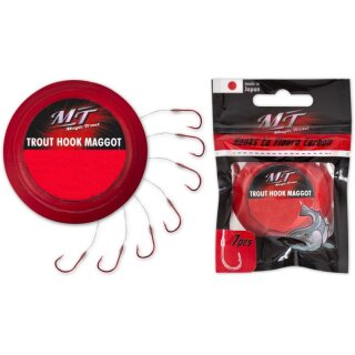 QUANTUM Magic Trout Trout Hook Paste Rot 70cm 0,22mm Gr.4 7Stk.
