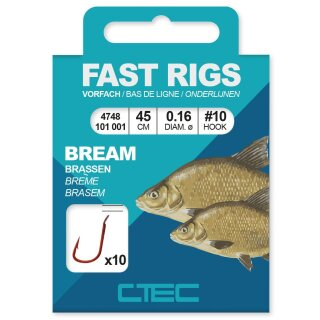 SPRO C-Tec Fast Rigs Bream Gr.12 45cm 0,14mm 10Stk.