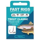 SPRO C-Tec Fast Rigs Trout Classic Gr.6 100cm 0,22mm 10Stk.
