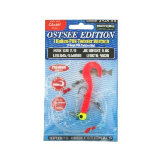 SPRO Ostsee 1 Hook Pilk Twister Rig 5g Japan Rot